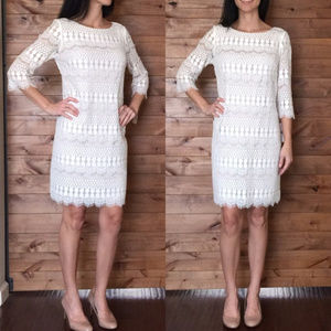 Jessica Howard Ivory Lace Shift dress-Worn once